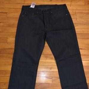 NWOT Men's Levis Jeans Charcoal/dark gray 38w32L